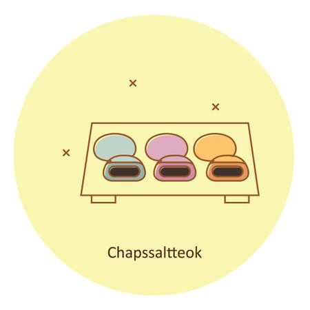 chapssaltteok Stock Vector - 79132673