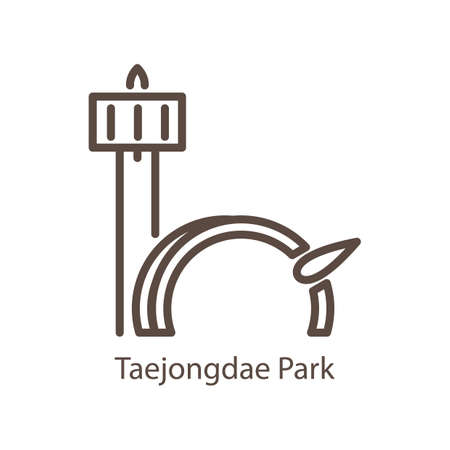 taejongdae park Illustration