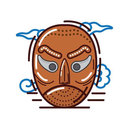 korean traditional mask design Иллюстрация