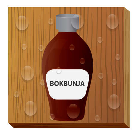 bokbunja wine Ilustrace