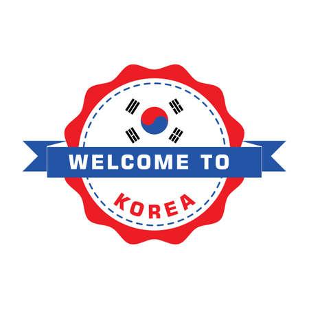 한국 레이블에 오신 것을 환영합니다. 스톡 콘텐츠 - 79155345