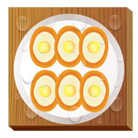 韓国の卵パン
