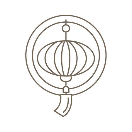 korean lantern Illustration