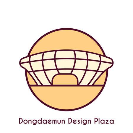 dongdaemun design plaza Ilustração
