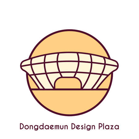 dongdaemun design plaza Illustration
