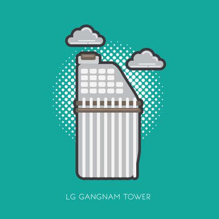 lg gangnam tower Illustration