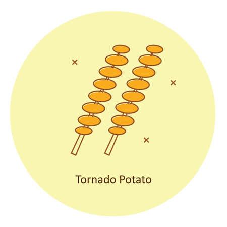 tornado potato Иллюстрация