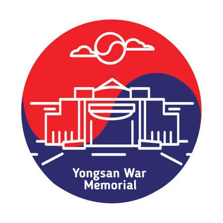 yongsan war memorial Illustration