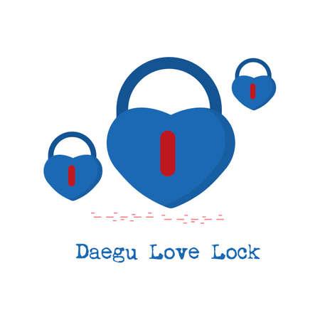 Daegu love lock Archivio Fotografico - 79155561