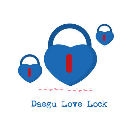 daegu love lock Illustration