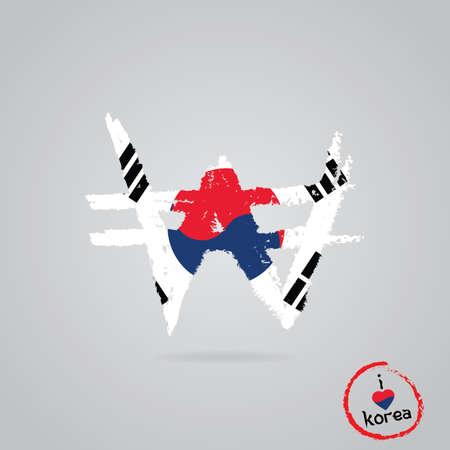 남한 국기 디자인 일러스트
