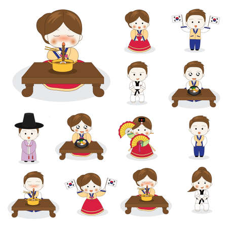 set of korean characters