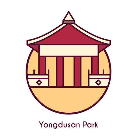 龍頭山公園  イラスト・ベクター素材