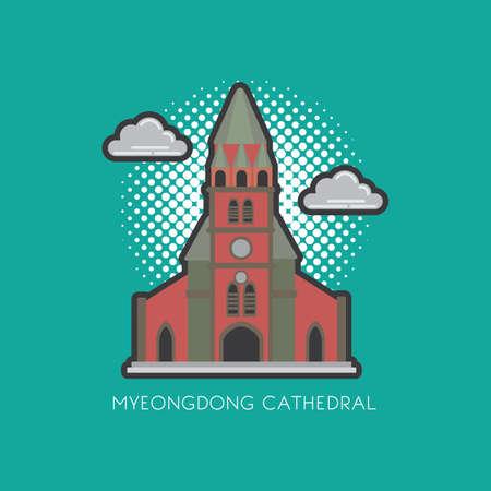 myeongdong cathedral Фото со стока - 79155670