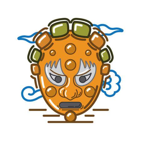 korean traditional mask design Çizim