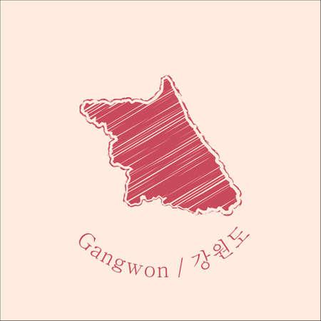 map of gangwon Illustration