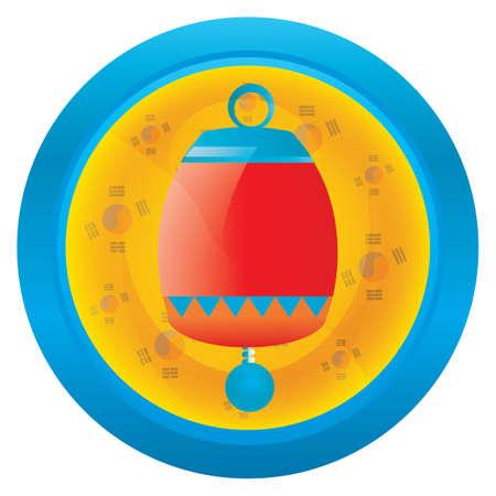 korean decor icon Иллюстрация