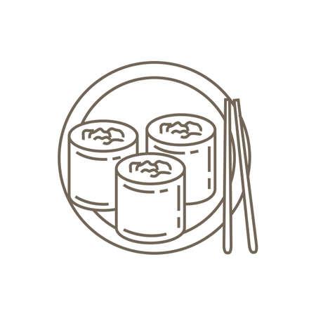 korea korean food meal dish snack seaweed roll rice Korean People vector