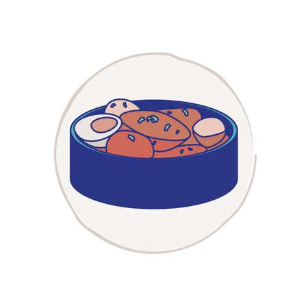 korean dish Illustration