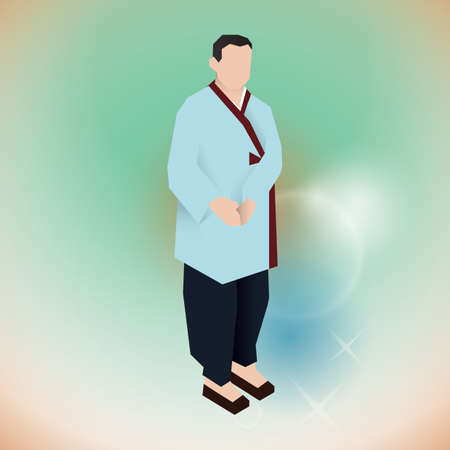 man in traditional korean attire