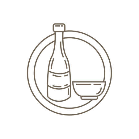 soju bottle and cup
