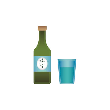 Soju concept vector illustration
