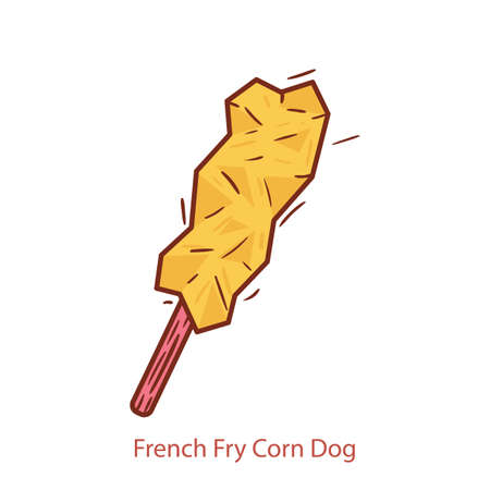 french fry corn dog