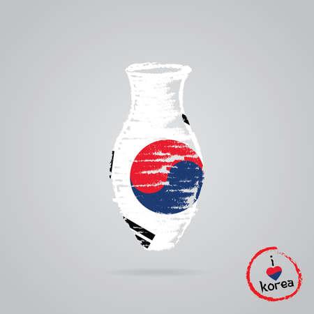 韓国国旗をデザインします。