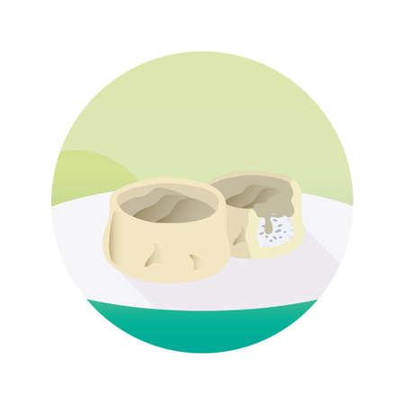 mandu dumplings Stock Illustratie