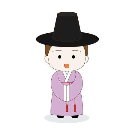 korean boy in traditional hanbok