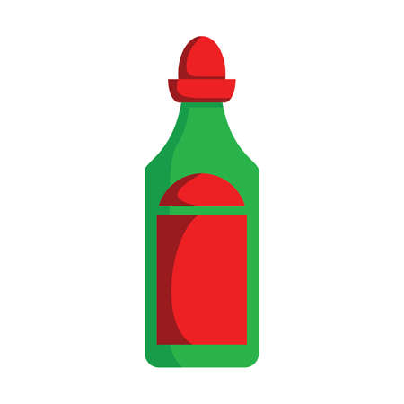 hot sauce bottle Иллюстрация