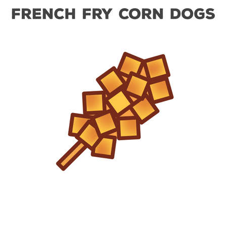 french fry corn dogs