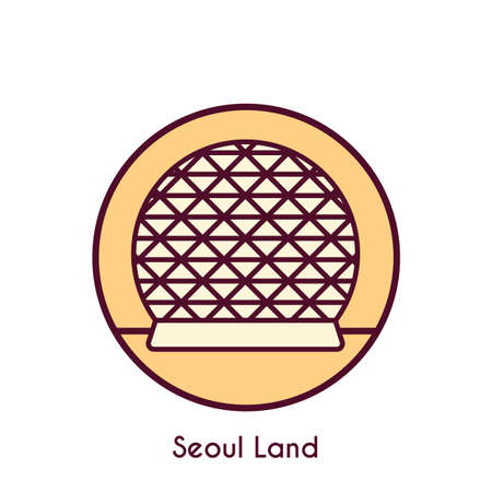 seoul land Stock Illustratie