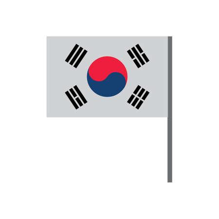 韓国の旗  イラスト・ベクター素材