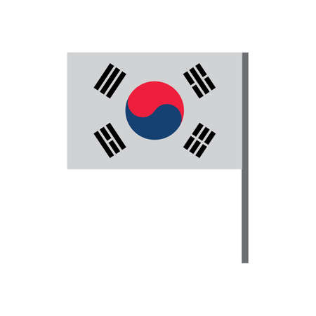 south korea flag Ilustrace