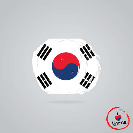 south korea flag design