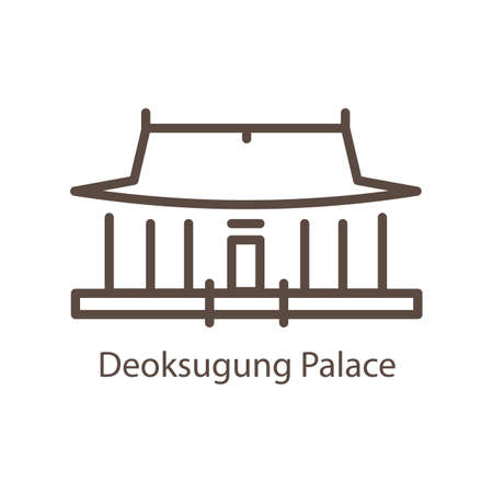 deoksugung palace Illustration