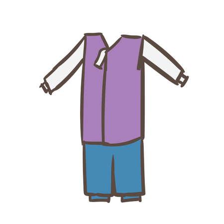男性の韓服  イラスト・ベクター素材