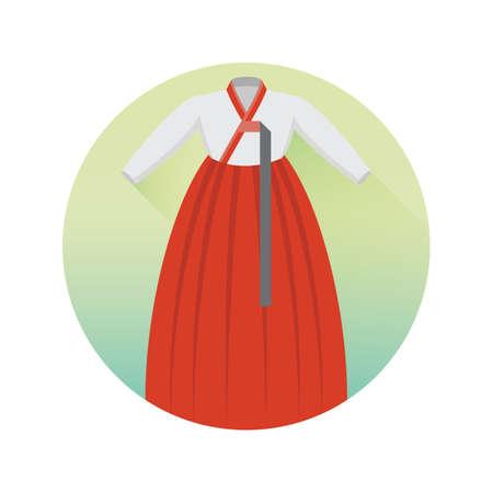 female hanbok Illustration
