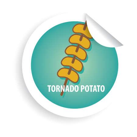 tornado potato Ilustração