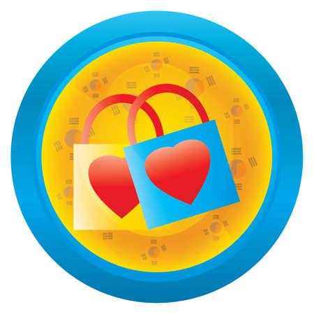 love locks icon Illustration
