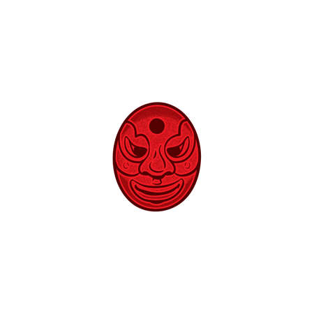 korean traditional mask design Illustration