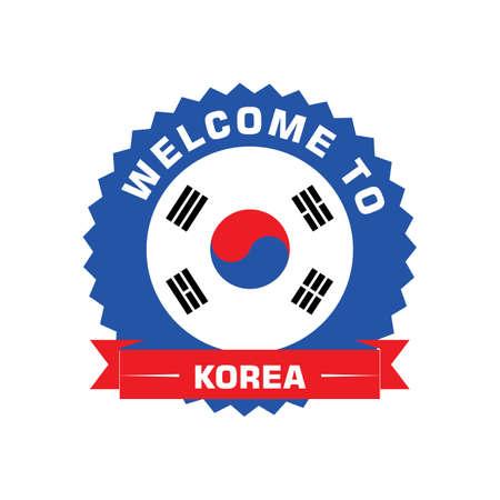 한국 레이블에 오신 것을 환영합니다. 스톡 콘텐츠 - 79156377