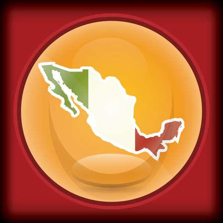 Kaart cartografie van Mexico