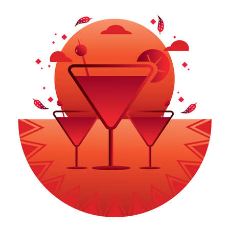 cocktails Ilustrace