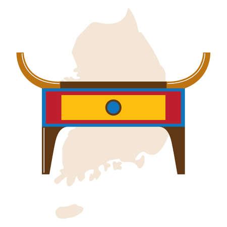 traditional korean altar table Illustration