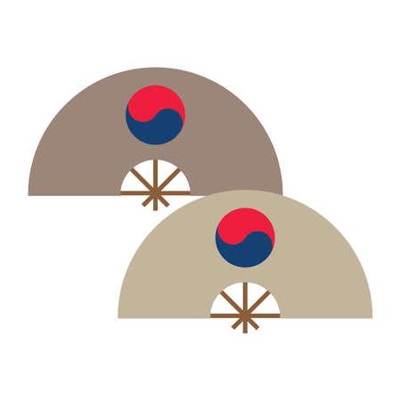 韓国の伝統的なうちわ