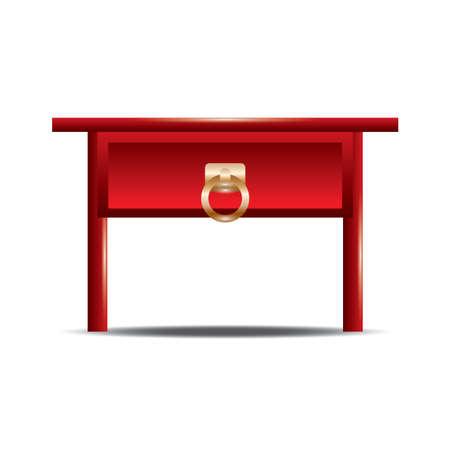 韓国の伝統的な祭壇のテーブル  イラスト・ベクター素材