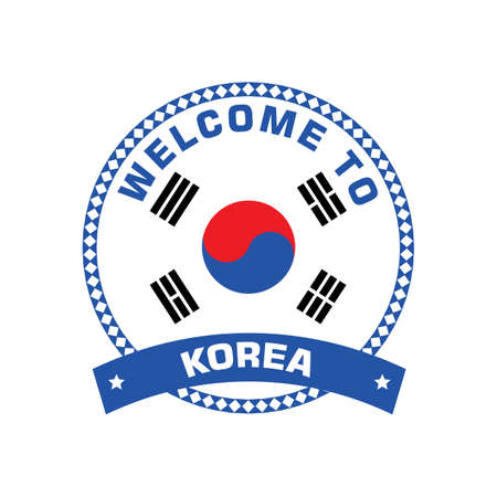 한국 레이블에 오신 것을 환영합니다. 스톡 콘텐츠 - 79156674