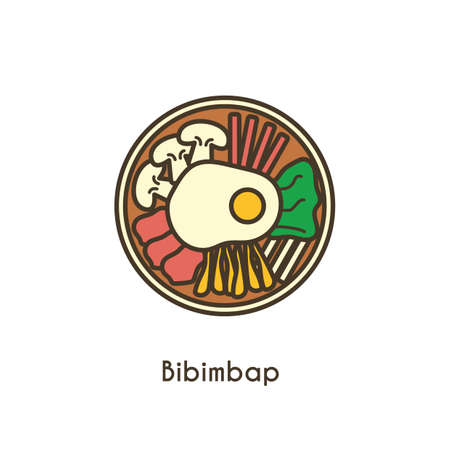 bibimbap Stock Vector - 79156687
